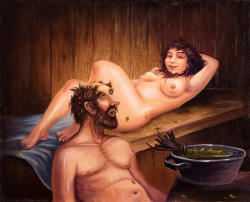 фото в бане муж и жена